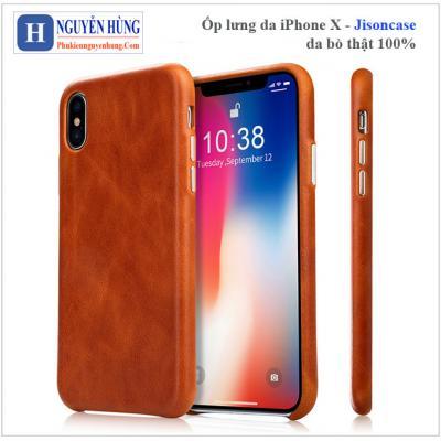Ốp lưng da iPhone X-XS – Jisoncase da bò thật 100%