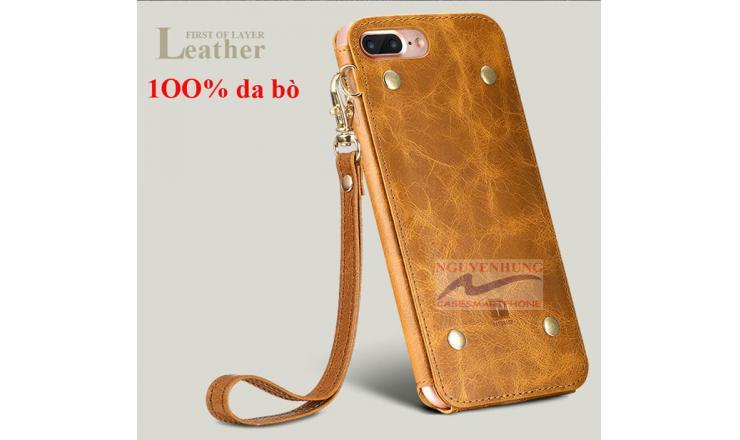 Ốp Lưng Da iPhone 7 7 Plus hiệu Oatsbasf da bò thật 1OO%