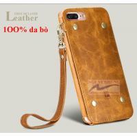 Ốp Lưng Da iPhone 7 7 Plus hiệu Oatsbasf da bò thậ...