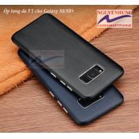 Ốp lưng da thật V1 cho dành cho Samsung Galaxy S8 S8 Plus
