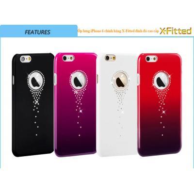 Ốp lưng thời trang X-Fitted đính đá cao cấp cho iPhone 6