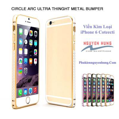 Ốp viền kim loại đính đá iPhone 6 Coteecti cao cấp