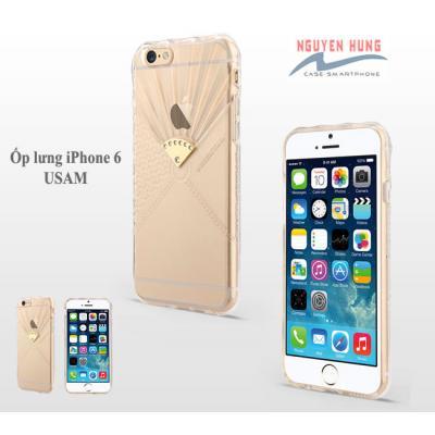 Ốp lưng iPHone 6 Usams mềm dẻo trong suốt thời trang