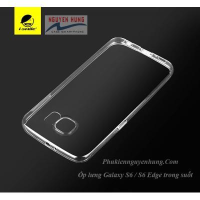 Ốp lưng trong suốt Galaxy S6 S6 Edge chính hãng I-Smile