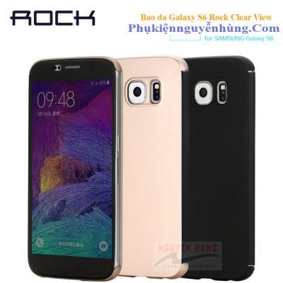 Bao da Galaxy S6 Rock Clear View chính hãng
