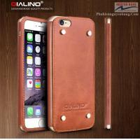 Ốp Lưng Da iPhone 6-6S-Plus – QUALINO da thật cao cấp