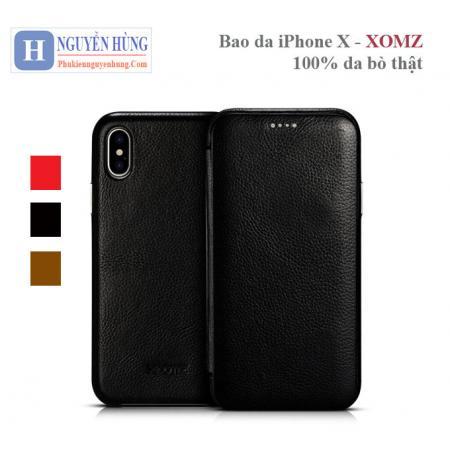 Bao da bò iPhone X – XOMZ cao cấp sang trọng