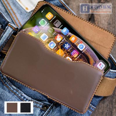 Bao da đeo thắt lưng iPhone XS Max-iP 8 PLus-7 Plus-6 Plus [da thật 100%]