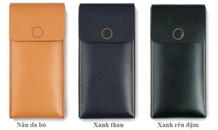 Bao da iPhone 11 Pro dạng rút - V2 Leather Case 100% da thật cao cấp