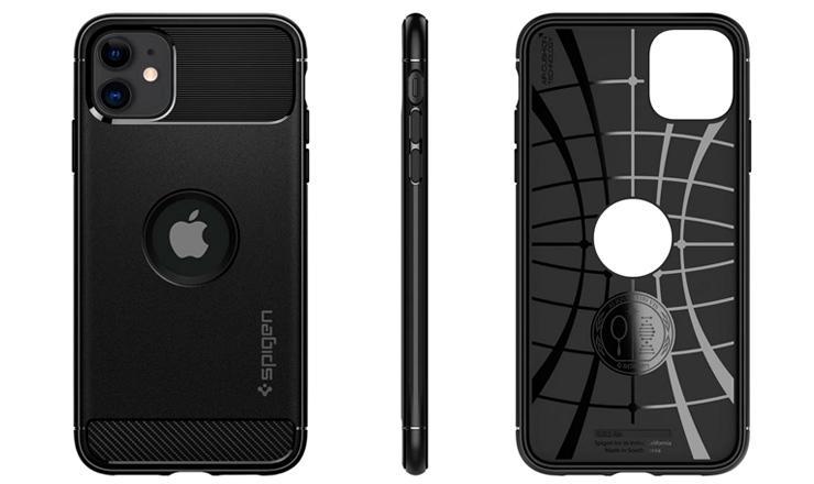 Ốp lưng iPhone 11 - Rugged Armor chính hãng Spigen Mỹ siêu mềm