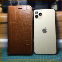 Bao da iPhone 11 Pro max - KC1 da bò thật vân cá sấu - Handmade