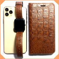 Bao da iPhone 11 Pro Max Ver.1 Handmade da bò Ý vân cá sấu