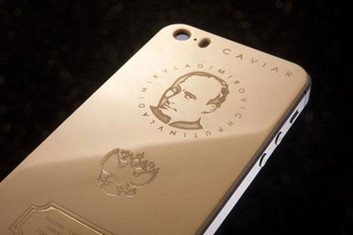 iphone 5 in hình tống thống Putin