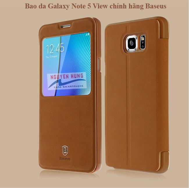 Bao da Galaxy Note 5 Baseus View tiện dụng